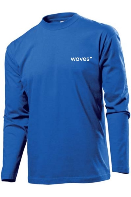 Waves Longsleeve blue2