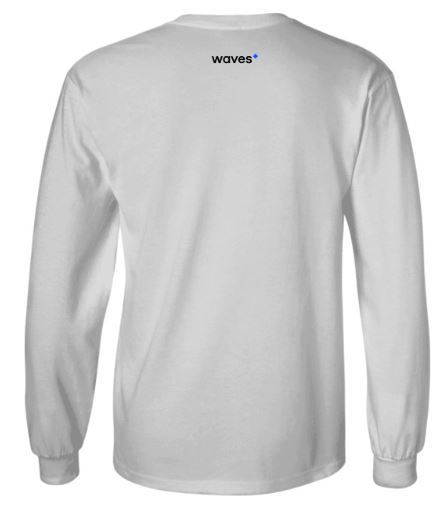 Waves Longsleeve White Back