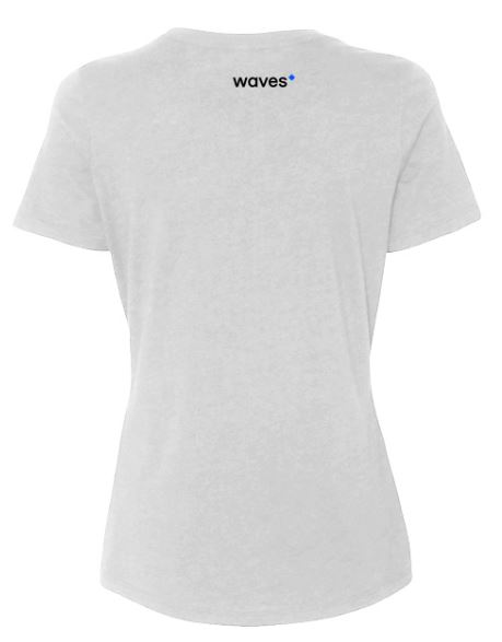 Waves Shirt White Back