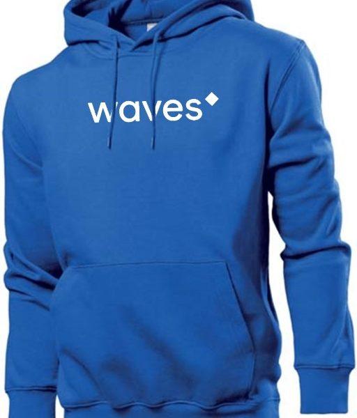 Waves Hoodie blue